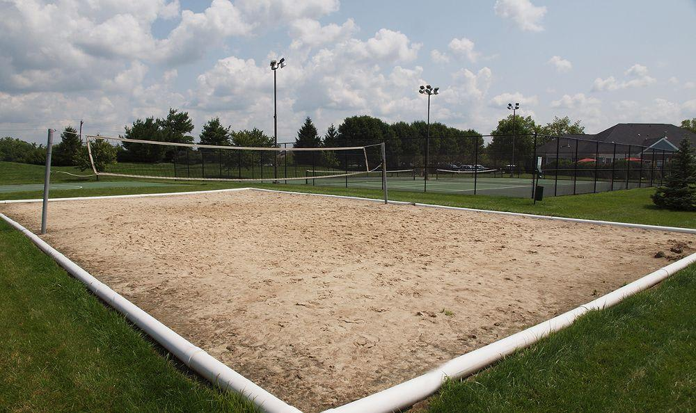 sand volleyball court at The Landings at Beckett Ridge in