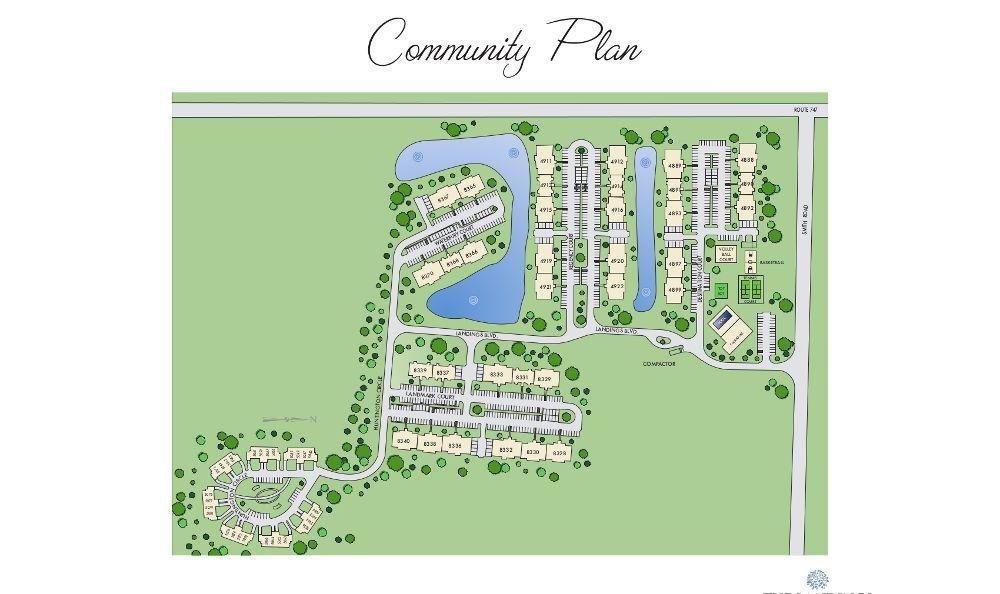 site map at The Landings at Beckett Ridge in