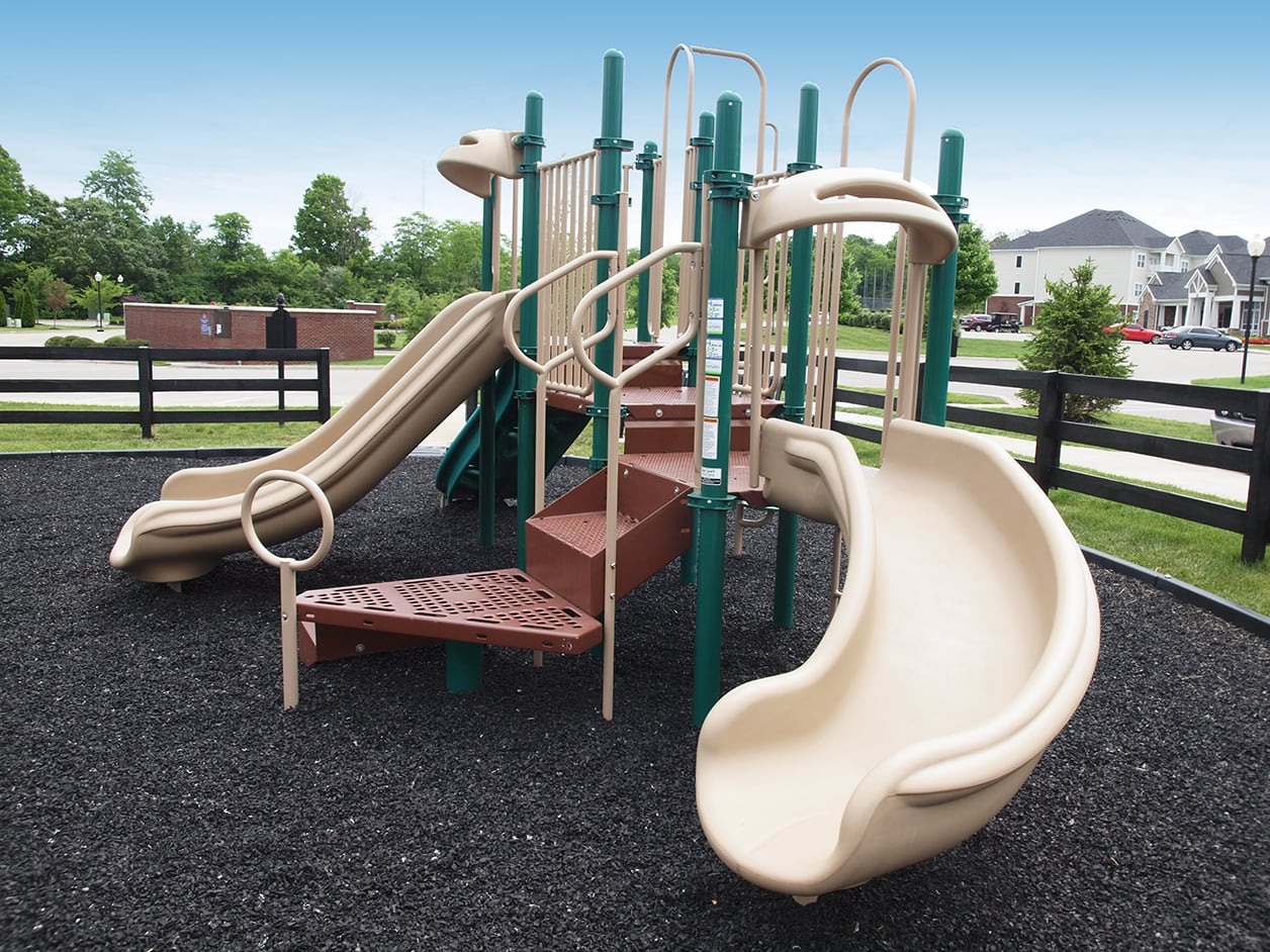 Playground equipment at Meridian on Shelbyville in Louisville, Kentucky