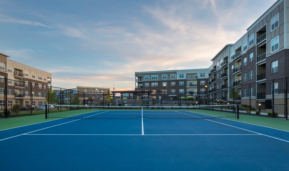 Tennis courts at Savoy at the Streets of West Chester