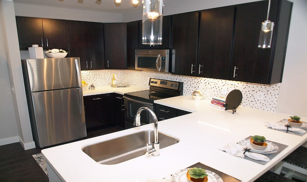 Stainless steel appliances at Savoy at the Streets of West Chester