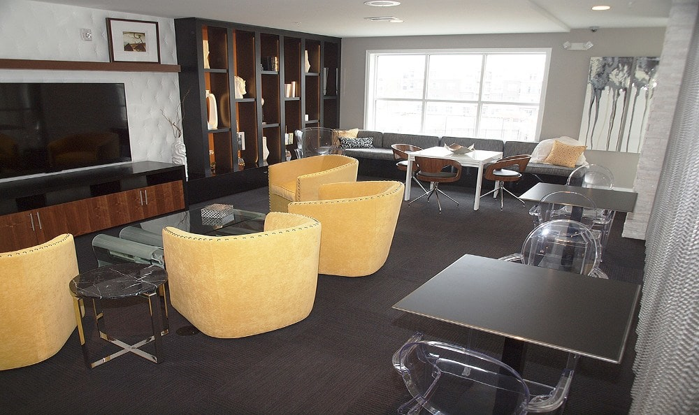Clubhouse gathering area at Savoy at the Streets of West Chester