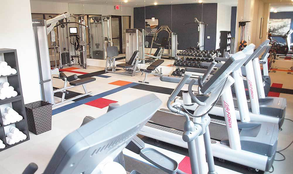 49Hundred offers a great fitness center