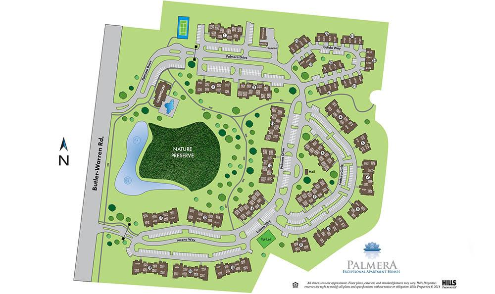 Site Map for Palmera Apartments