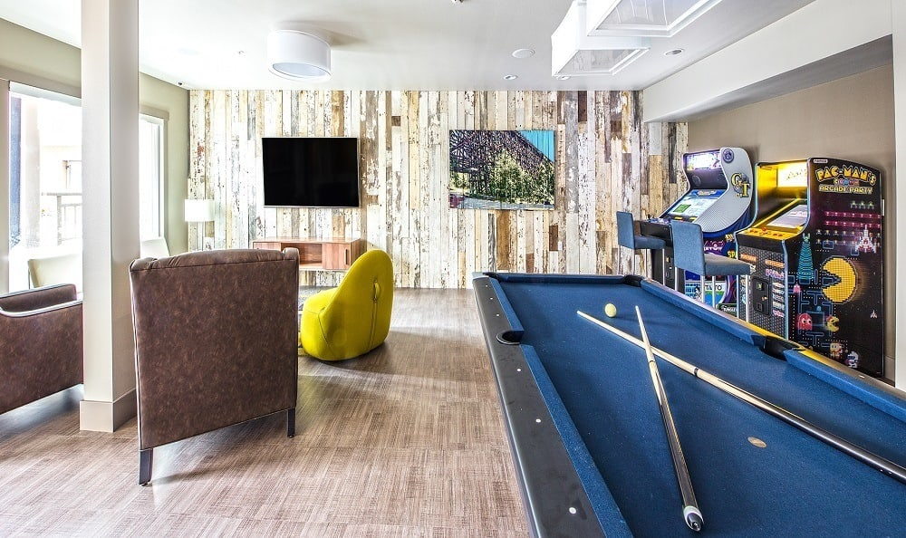 Game room pool table The Meyden Bellevue WA
