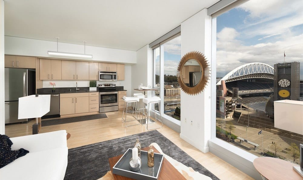 High End Finishes at The Wave at Stadium Place in Seattle, Washington