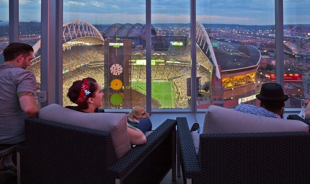 Resident Roof Top Deck With View Of Century Link Field At The Wave  Apartments In Seattle ...