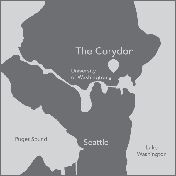 A map of The Corydon's location managed by Pillar Properties