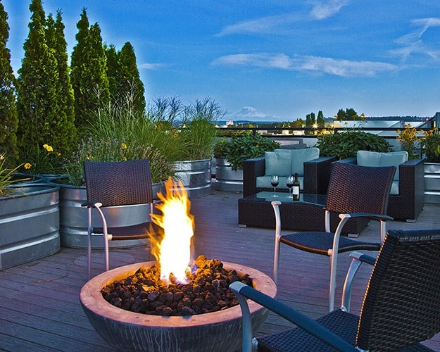 The Corydon's rooftop lounge managed by Pillar Properties
