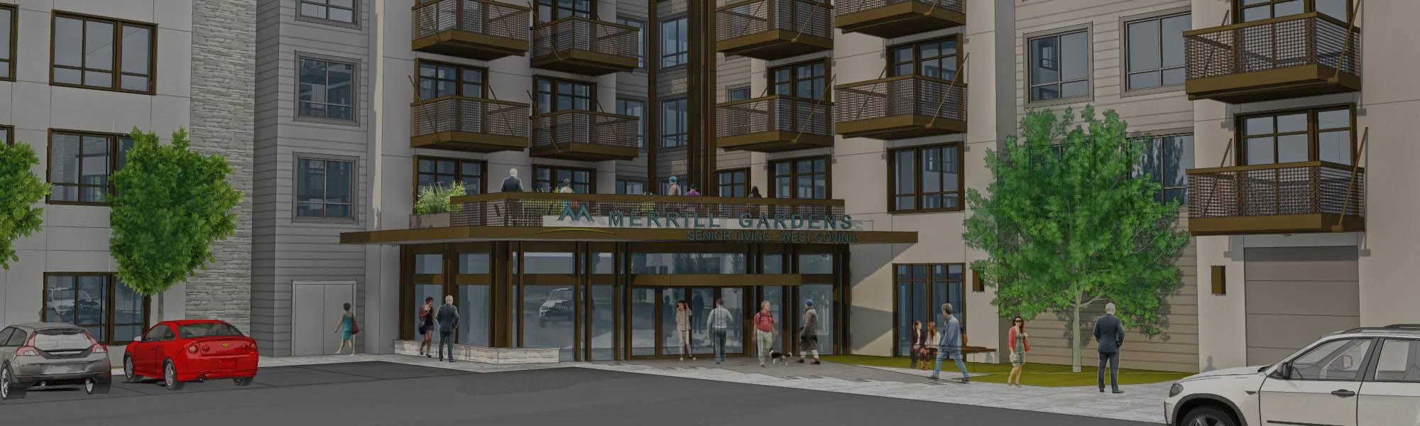 Front Entrance Rendering of Pillar Properties