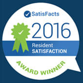 Ranked #1 in Resident Satisfaction in the nation.