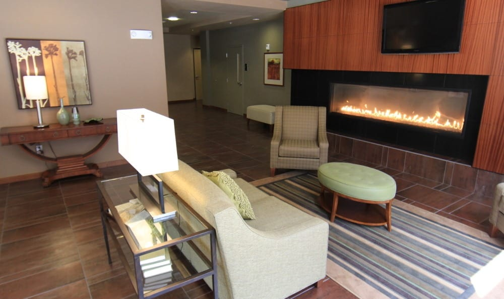 Our luxurious apartments have gas fireplaces here in Kirkland, WA
