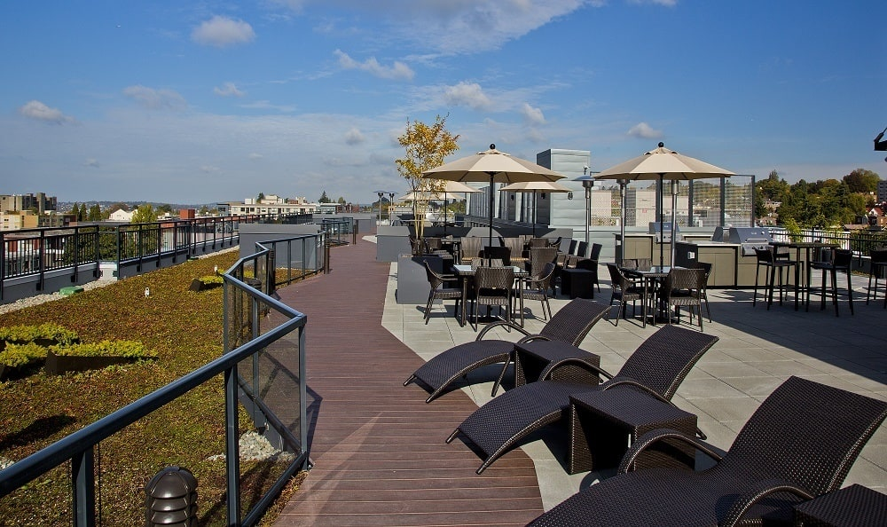 Our Apartments in Seattle, Washington offer a Beautiful Rooftop Lounge w/ City Views
