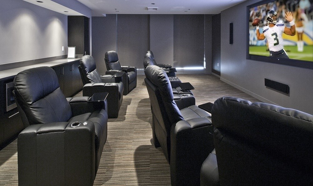 Movie theater at The Nolo at Stadium Place in Seattle, Washington