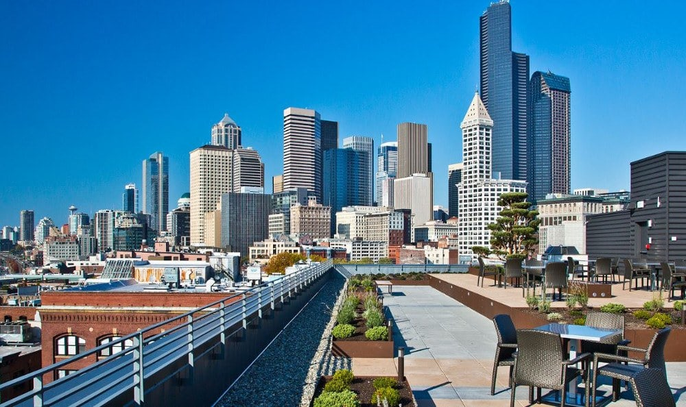 Breath-taking view of Seattle, Washington from The Nolo at Stadium Place