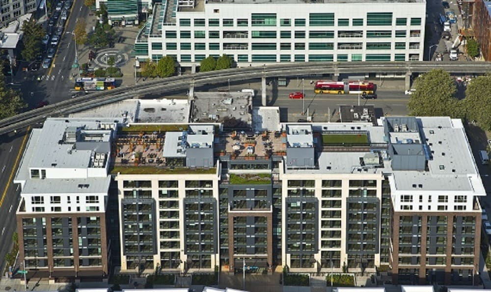 Aerial of The Century Seattle WA Apartments