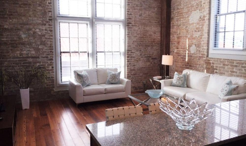 Natural lighting at Josephine Lofts in New Orleans, LA.