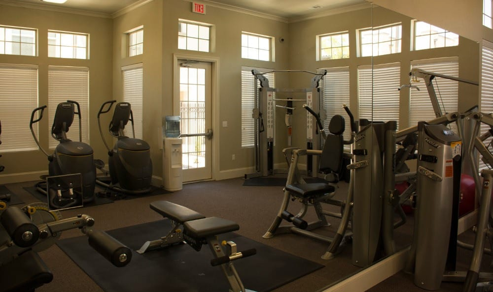 The fitness center at Andalucia Villas