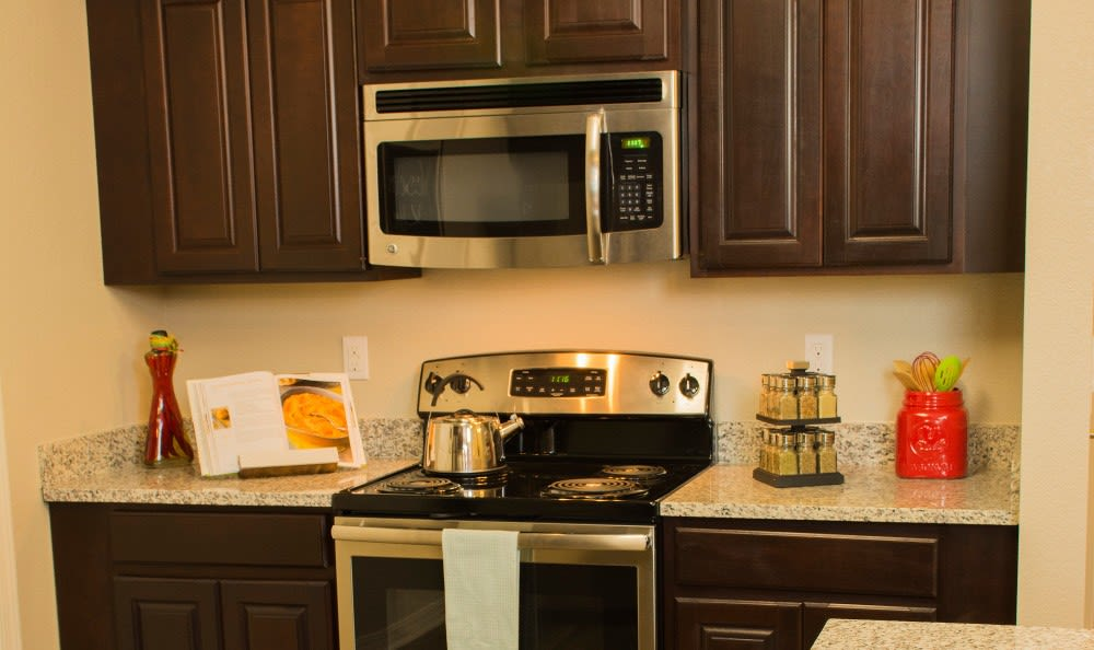 Updated appliances in the kitchens at Andalucia Villas