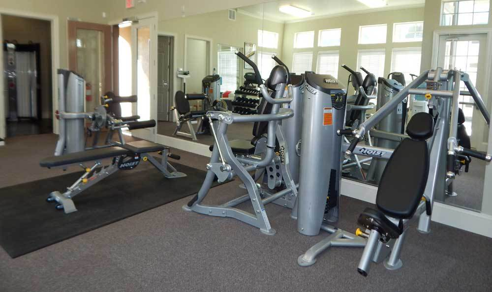Fitness center at our luxury apartments in Albuquerque
