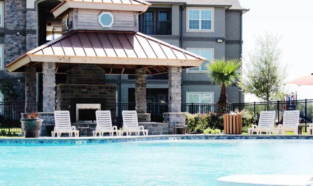 Exterior of our pool area in Houma, LA