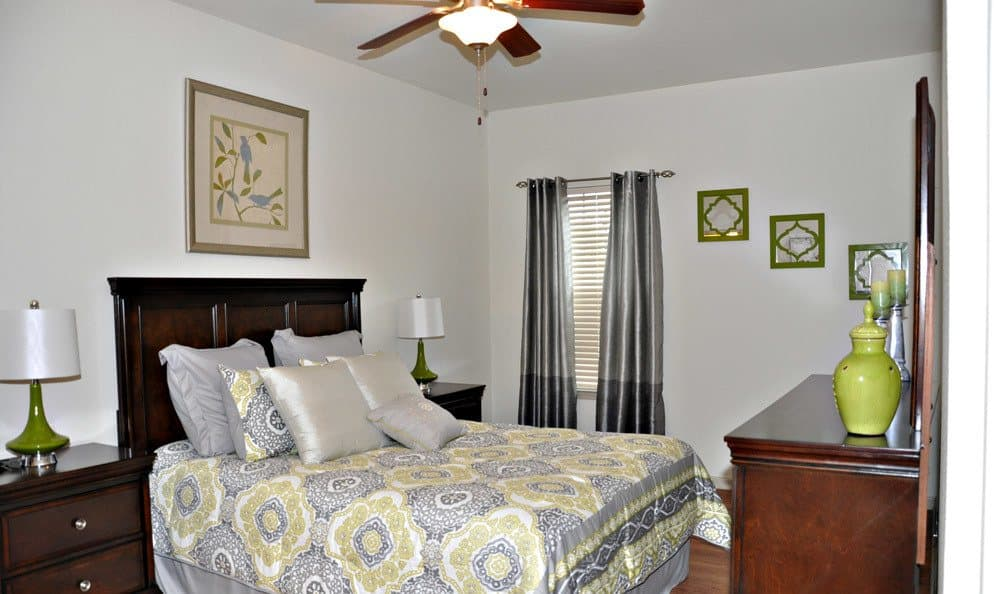 Bedroom at our luxury apartments in Bossier City