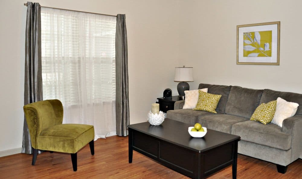 Living room at Jamestown Place Apartment Homes
