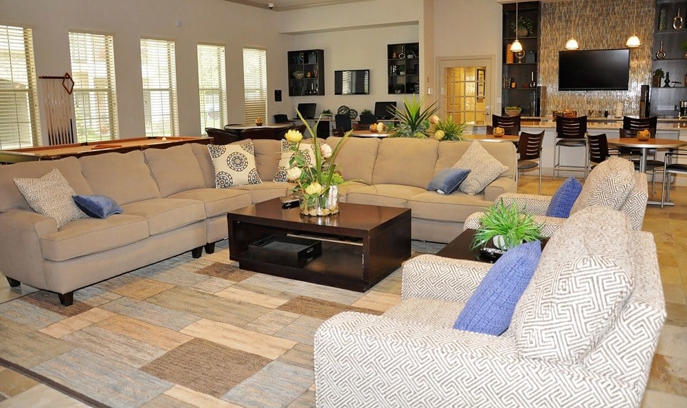 Lobby to our luxury apartments in Bossier City