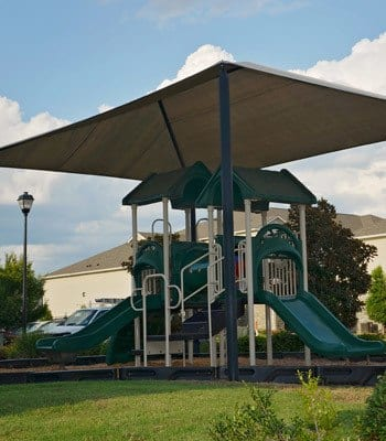 Slides at apartments in Bossier City