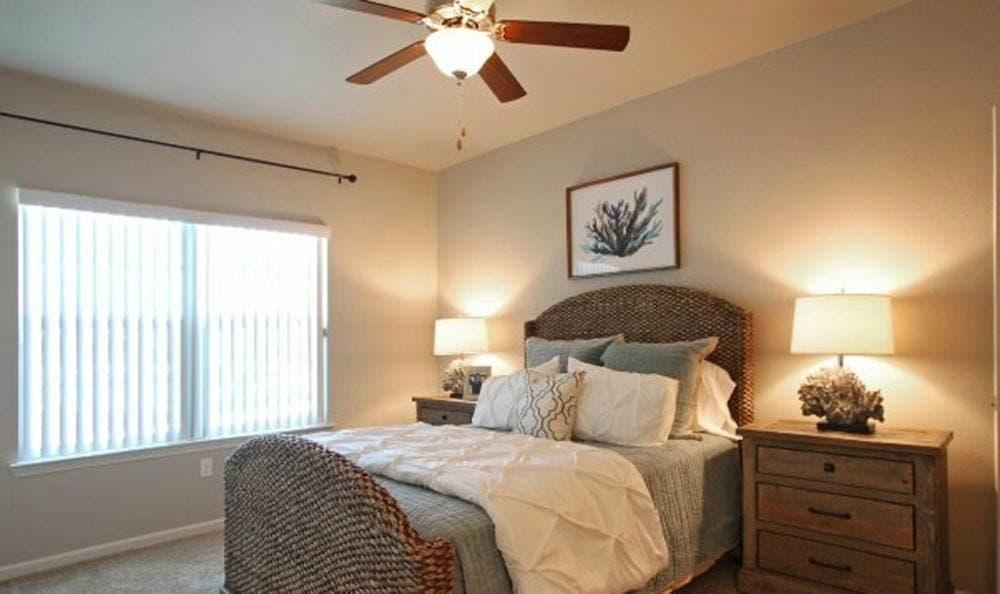 Spacious bedrooms at Cameron Isles Apartments in Houma, LA