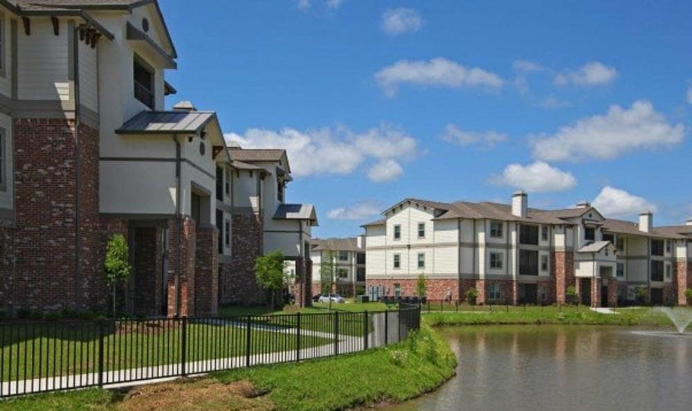 An apartment with a view at Cameron Isles Apartments in Houma, LA