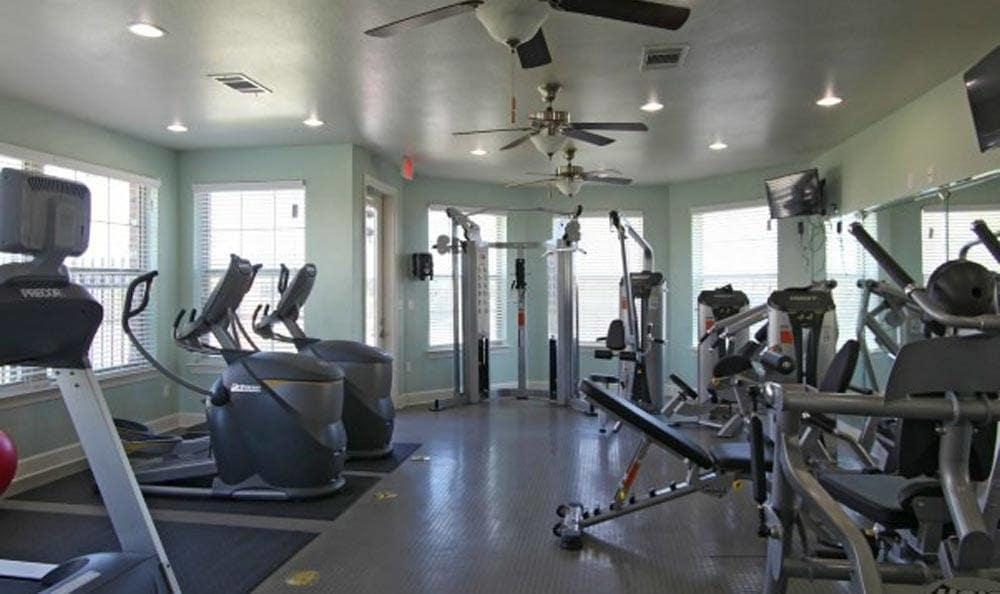 Fitness Facility at Cameron Isles Apartments in Houma, LA