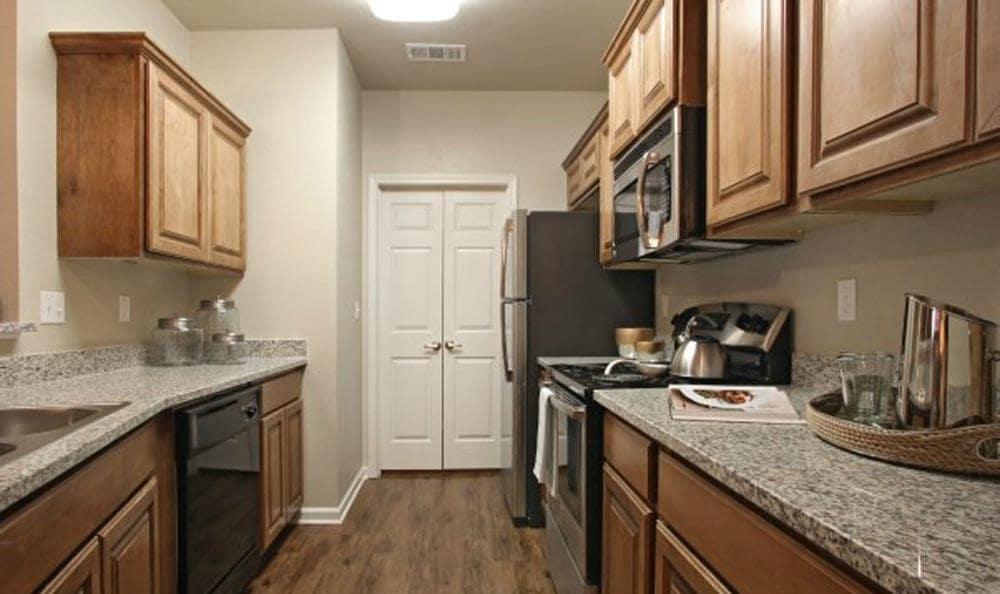 An example kitchen at Cameron Isles Apartments in Houma, LA