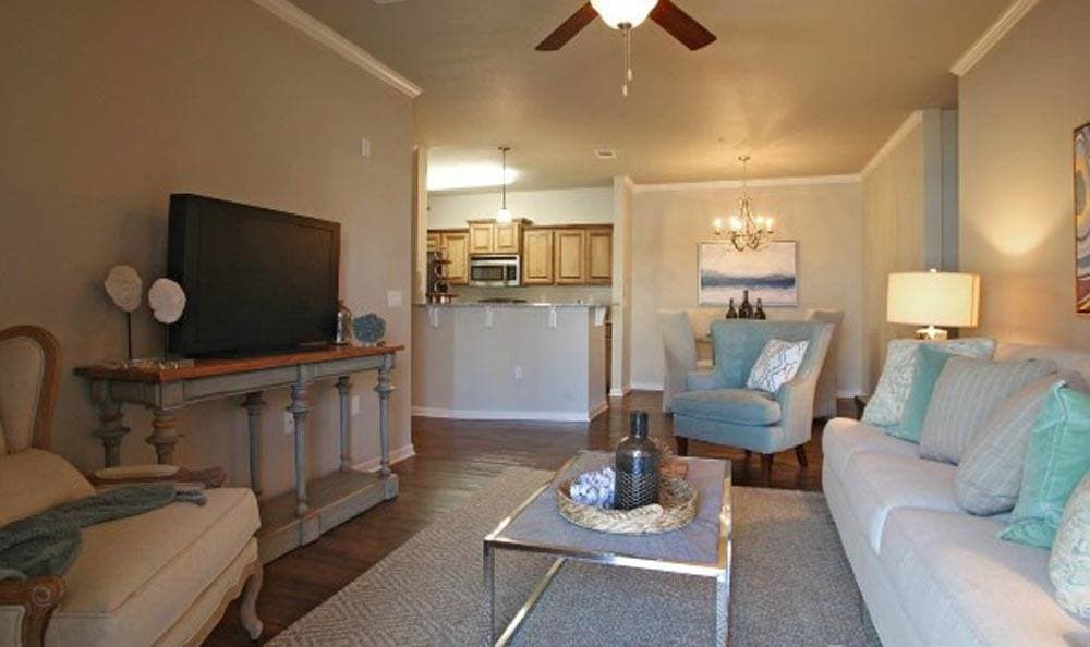 Another example of a living room at Cameron Isles Apartments in Houma, LA