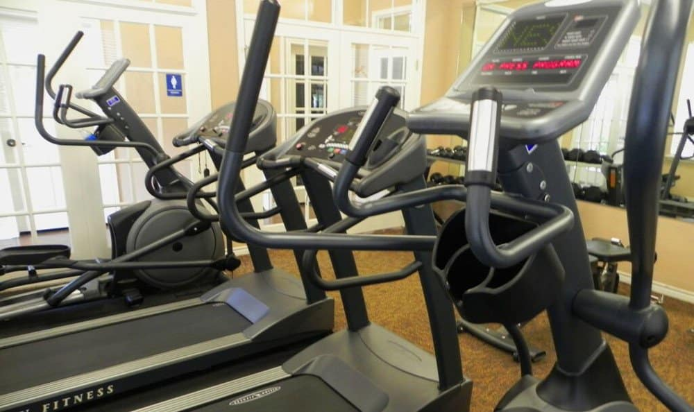 Fitness room at Reserve at Squirrel Run in New Iberia, LA