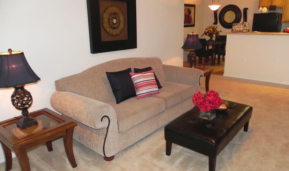 Living room at Reserve at Squirrel Run in New Iberia, LA
