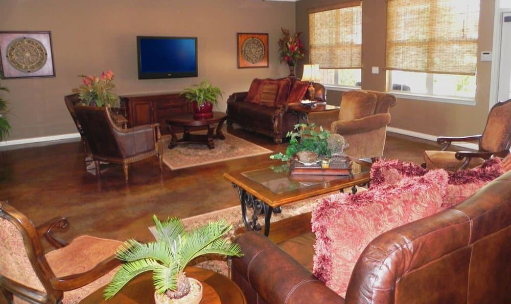 Clubhouse entertainment room at Reserve at Squirrel Run in New Iberia, LA