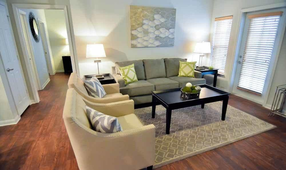 Comfortable living room at Villa Broussard in Broussard, LA