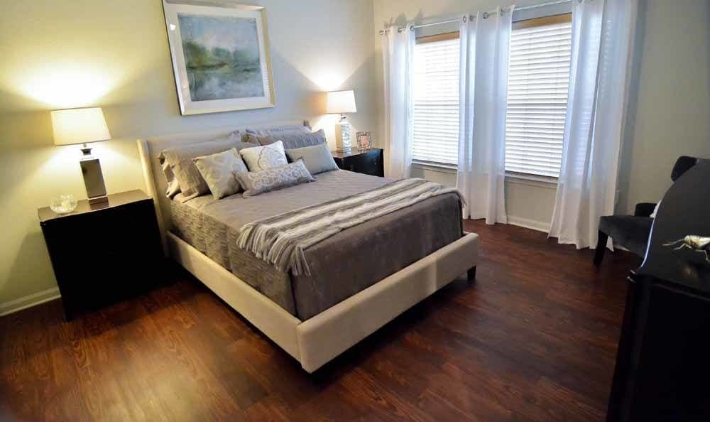 Master bedroom at Villa Broussard in Broussard, LA