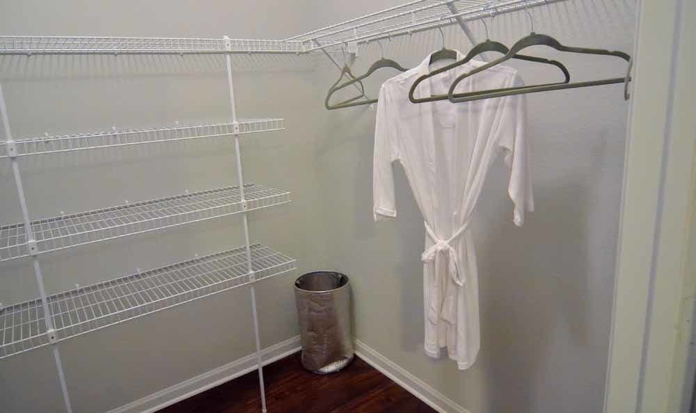 Walk-in closets available at Villa Broussard in Broussard, LA