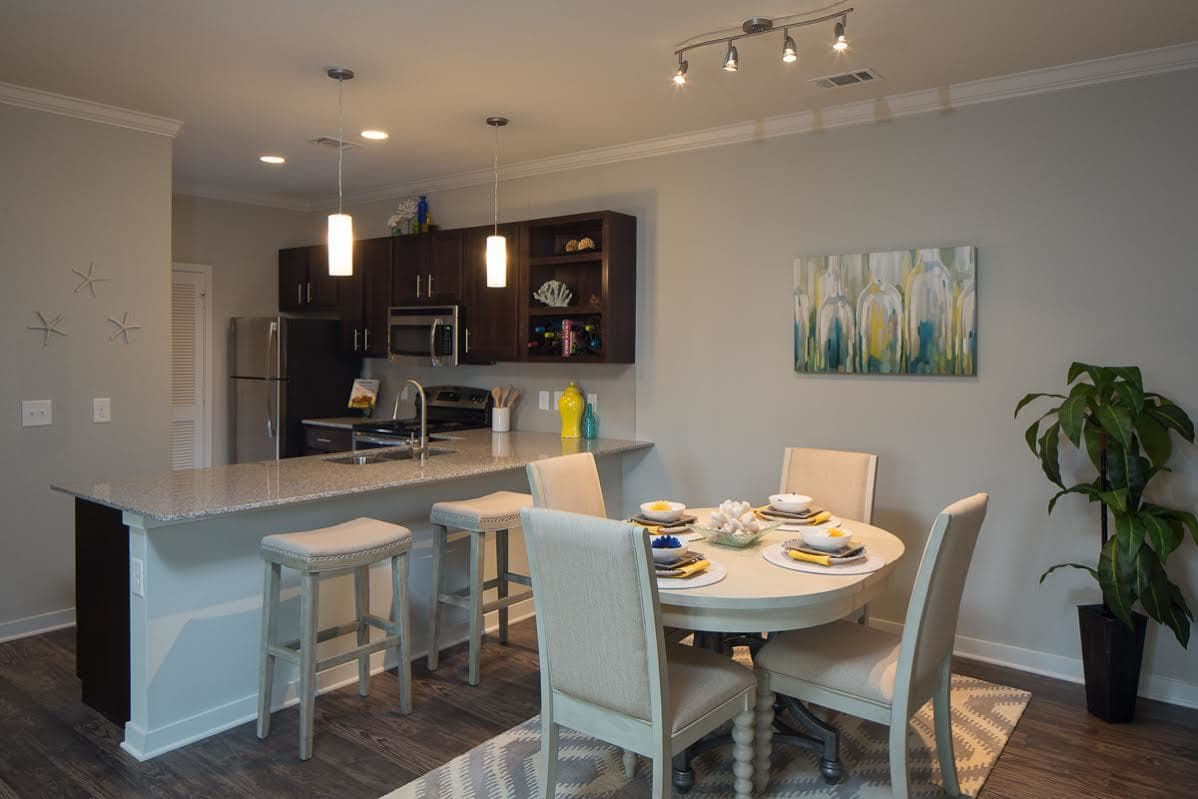 Dining room at West Woods Apartments in Pensacola, FL