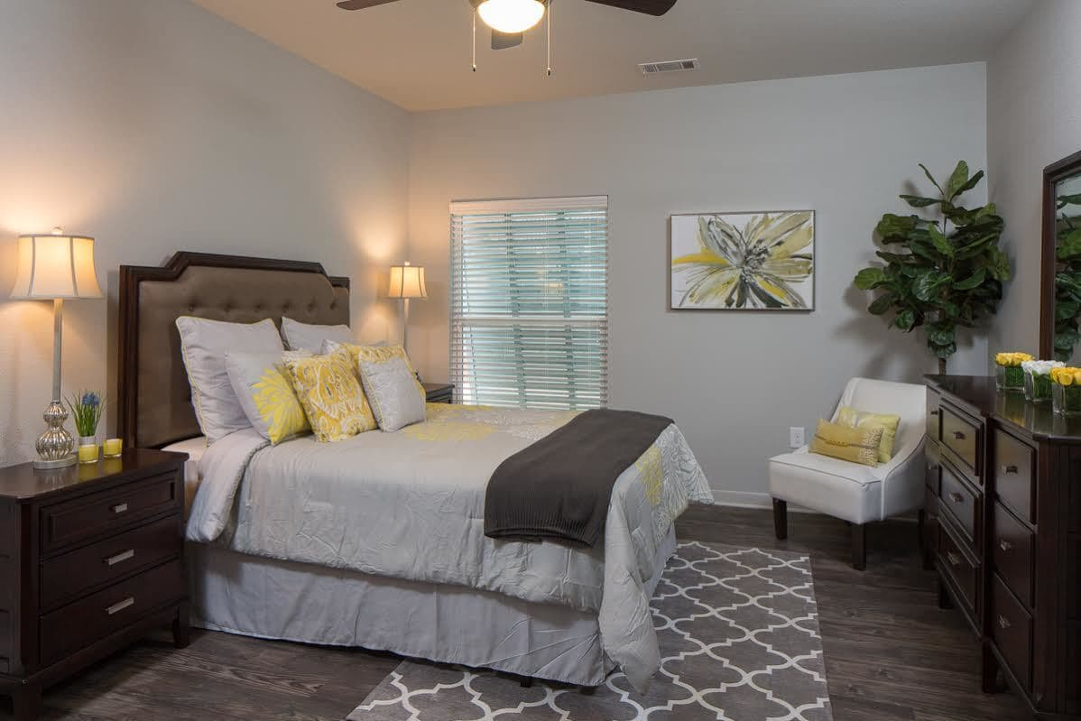 Spacious bedroom at West Woods Apartments in Pensacola, FL