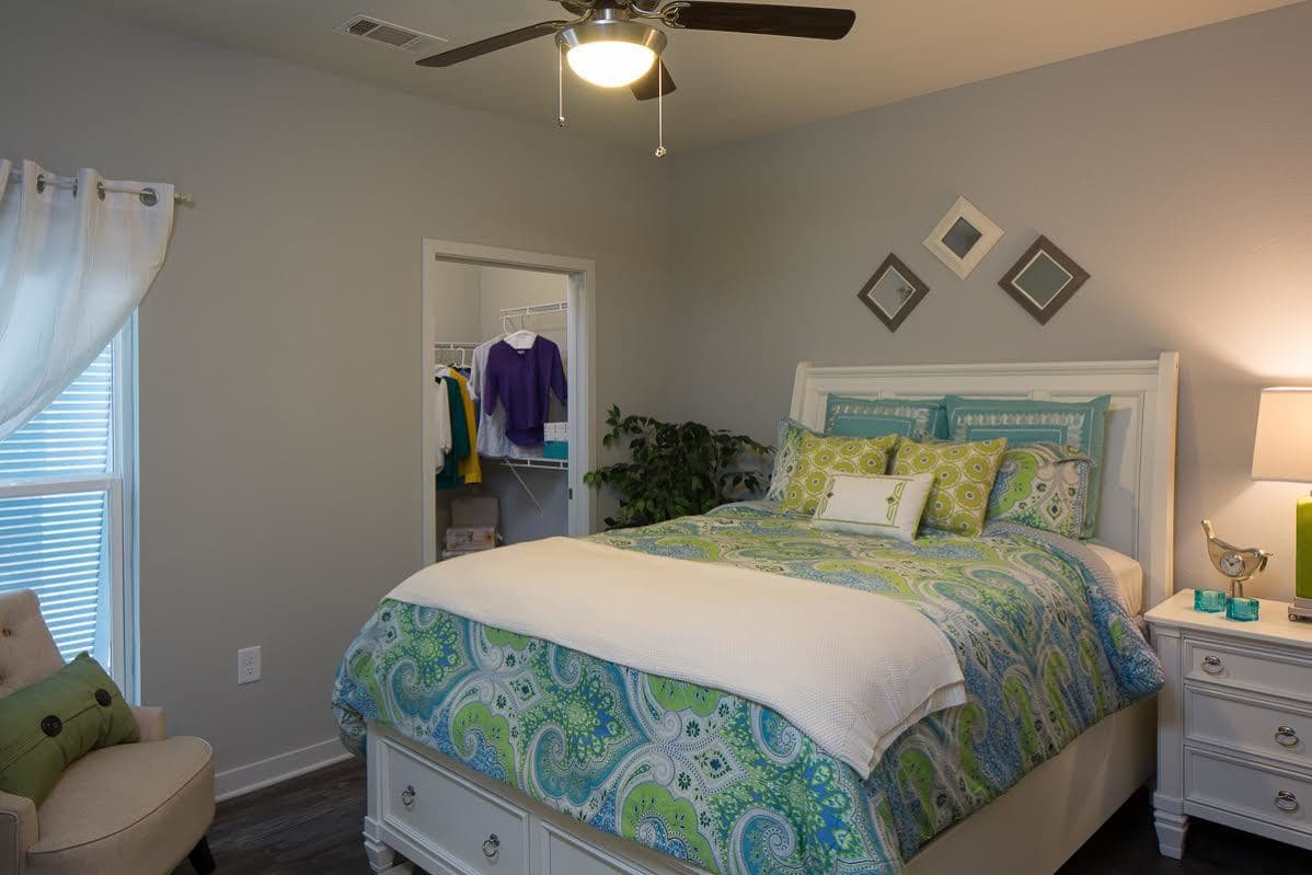 Second bedroom at West Woods Apartments in Pensacola, FL