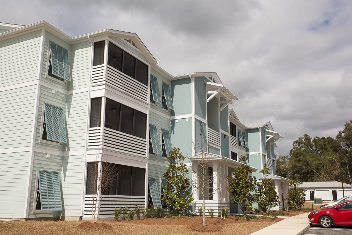 Another exterior view of West Woods Apartments in Pensacola, FL