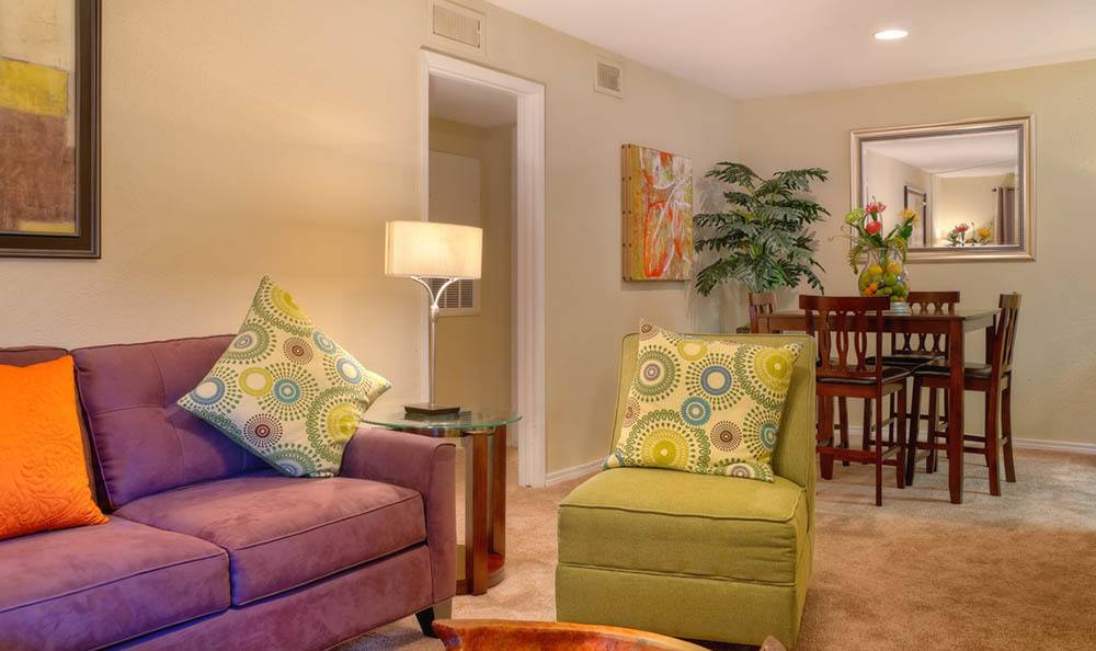 Houston apartments have a spacious luxury living rooms