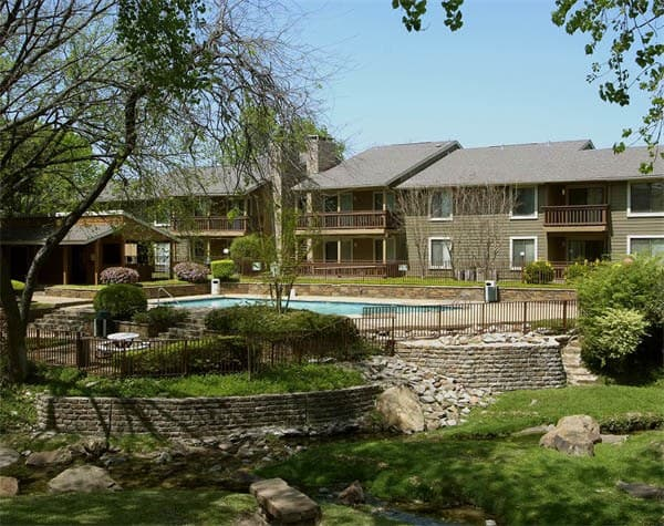 Beautiful pool at apartments in Dallas