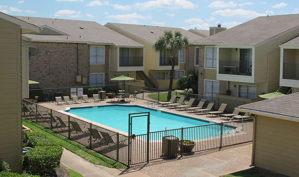 Beautiful resort-style pool in Houston