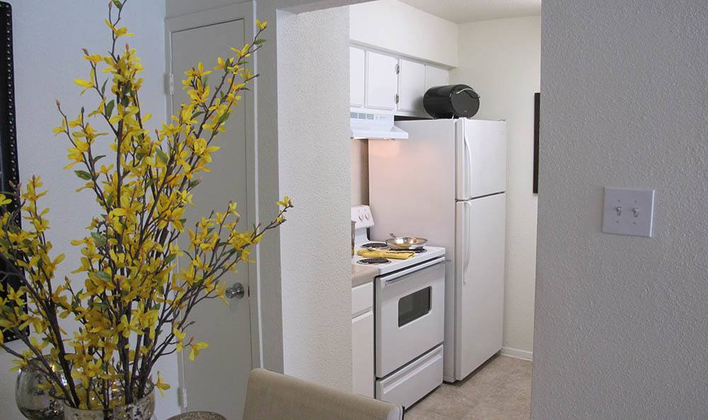 View of kitchen at apartments in Houston
