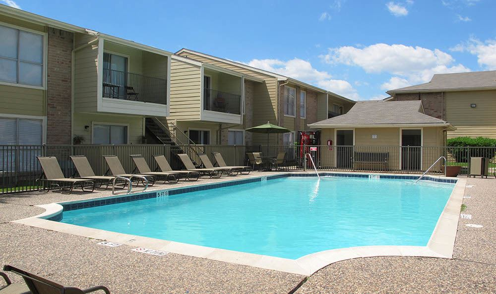 The pool at The Alcove Apartment Homes