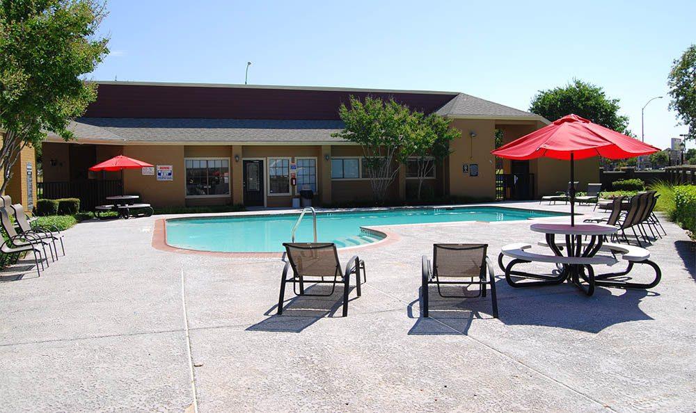Beautiful pool at apartments in TX
